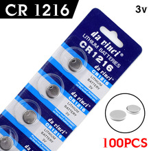 Buy Free New 100Pcs watch Button battery 3V CR1216 DL1216 BR1216 5034LC Watch Button Coin Cell Lithium Battery for $14.24 in AliExpress store