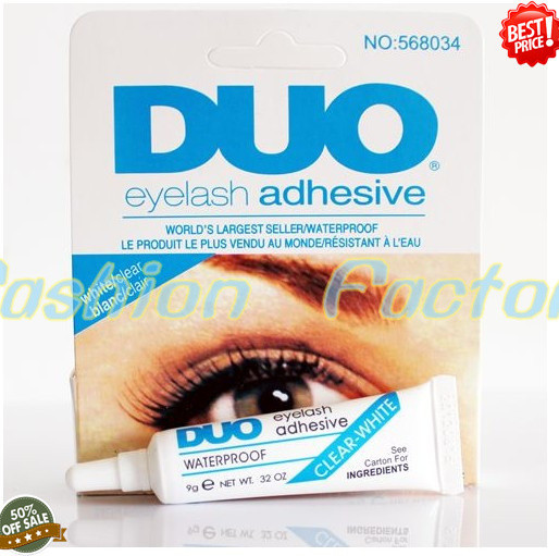 "100 PC/ lot Best quality Makeup Eyelash Glue DUO WaterProof Eyelash Adhesive Glue 9G ""White/Black"" Free shipping+Free gift(China (Mainland))"