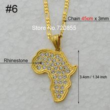 Anniyo 8 Style/mapa afryki naszyjnik łańcuch mapa afryki zestaw biżuteria złoty kolor biżuteria dla kobiet mężczyzn dziewczyna #132106-8(China)