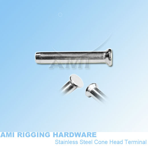 4mm wire*35mm, H11-04-0 1,Cone head terminal, tensioner, stainless steel 316, marine boat rigging hardware wire rope fitting(China (Mainland))