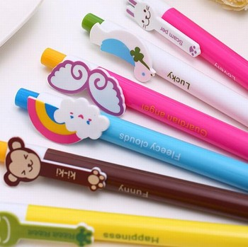 Retail Cartoon Animal Rainbow Wings Ball Pen Stationery  (KB-19)