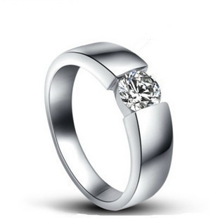 18k Gold plated ring Pure Silver 925 Platinum Bag Ring Lovers Ring 0.6CT Mossanite Ring(China (Mainland))