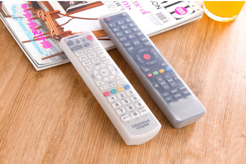 waterproof Home air conditioning TV remote control sets of silicone protective cover and dust jacket case Bag(China (Mainland))
