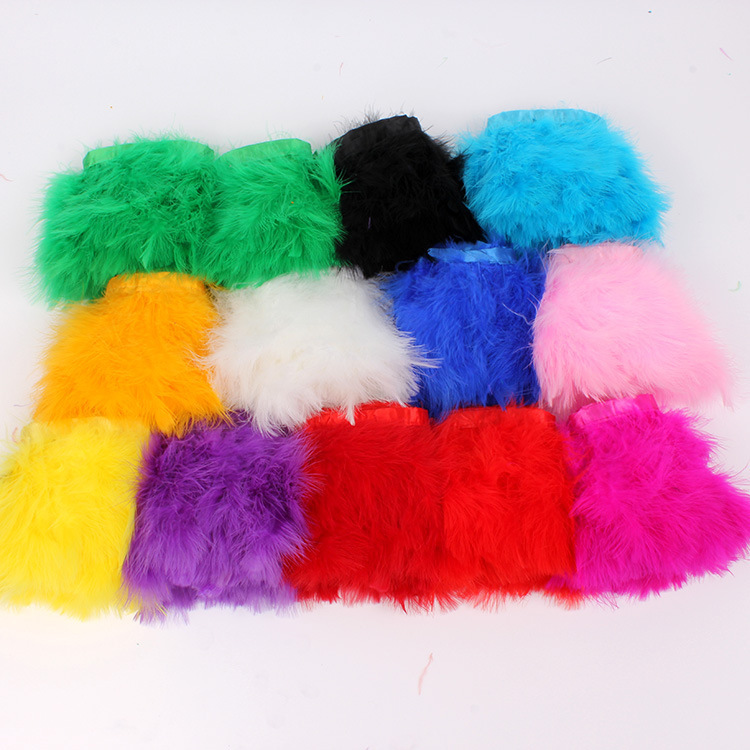 Feather Boa Casamento Wholesale 13color 5pcs/lot Diy Clothing Accessories Turkey Feather Felt Side 15-20cm Full Color Velvet Hem(China (Mainland))