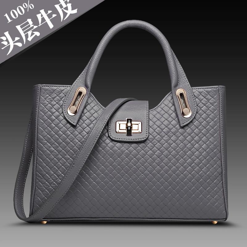 Fashion 2014 womens fashion genuine leather handbag first layer of cowhide handbag bag casual messenger bag<br><br>Aliexpress