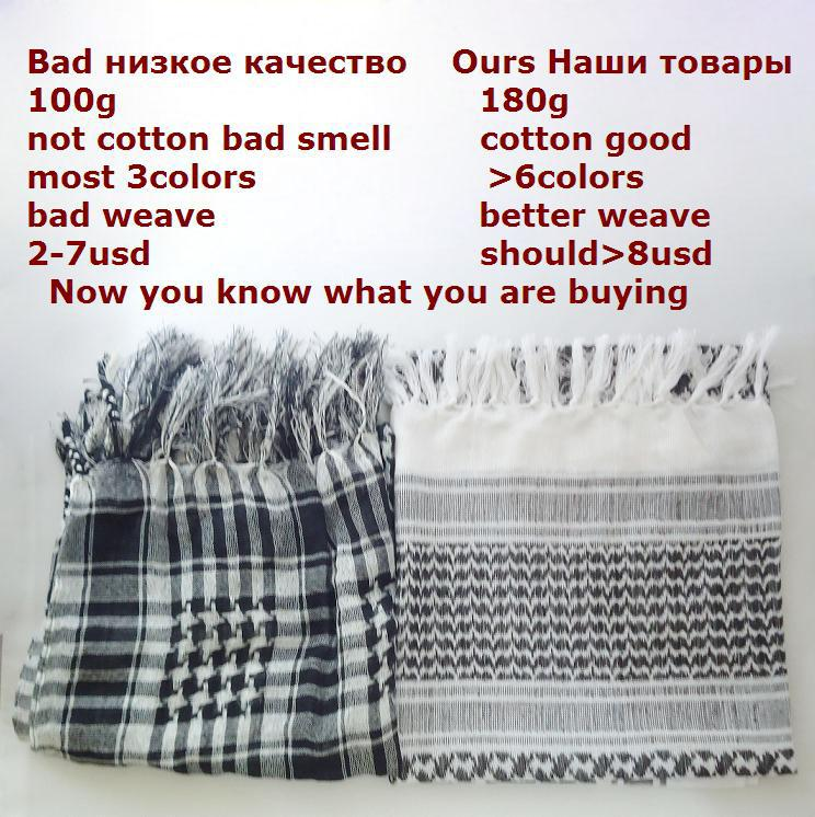 Military Muslim Hijab Shemagh Tactical Desert Arabic Keffiyeh Scarf 100% Cotton Thickened Wargame Arab Scarf(China (Mainland))