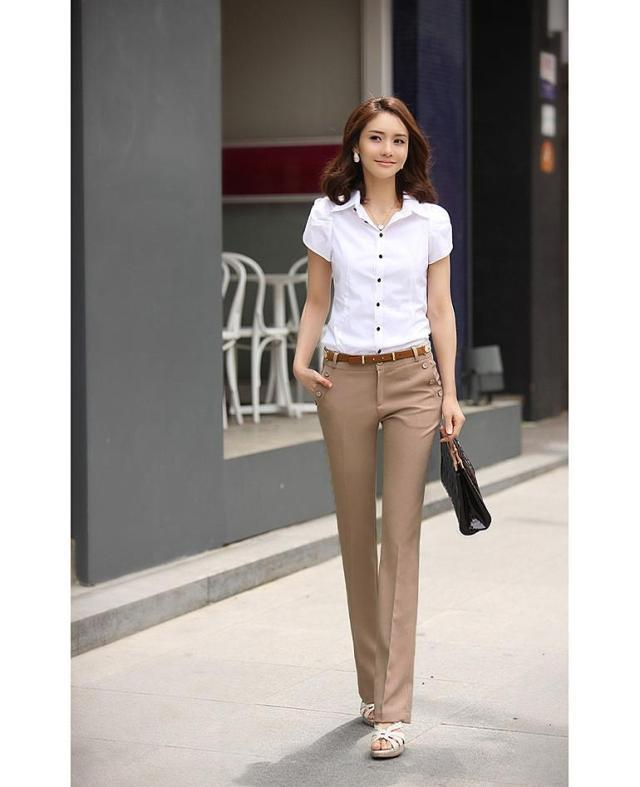 Formal Clothes For Women Pants Simple Yellow Formal Clothes For