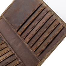 Free shipping new Men Genuine Leather Wallet Business Casual Credit Card ID Holder large capacity money