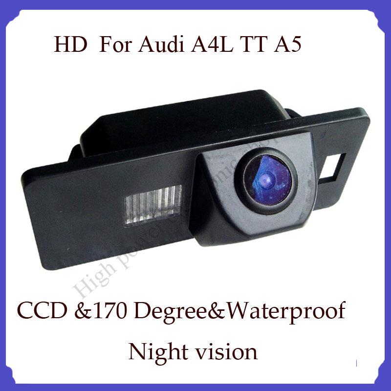 rear back camera CCD HD high quality car rear view camera for Audi Audi A4L TT A5 Parking camera CCD(China (Mainland))