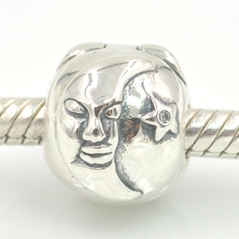 Original 925 Sterling Silver Charms Sun Moon and Star Magic Sky Clip Charm Beads Fits Pandora Charms Bracelet Jewelry Charmlead(China (Mainland))