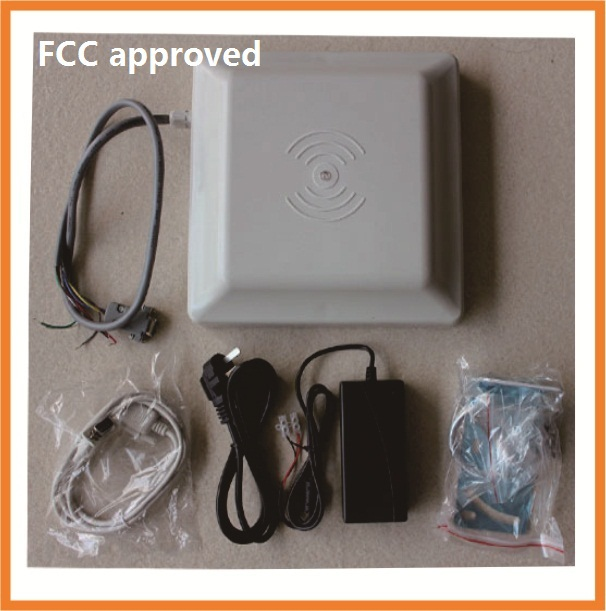 UHF RFID reader 5m long range reader ,RS232/485 with Wiegand +Free SDK +Free card 5pcs (FCC approved)(China (Mainland))