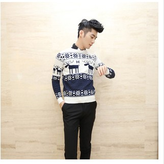 Hot Selling Fashion Sport Christmas Deer ugly Sweater For Man Warm Knitted Wool Sweaters Casual Plus