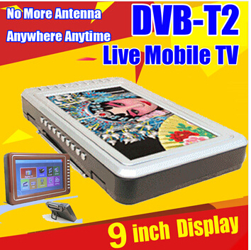 "Newest Portable Video Player with DVB-T2 Digital TV Receiver 9"" big display Mobile TV T2 Muti-function MP5 Player Digital Frame(China (Mainland))"