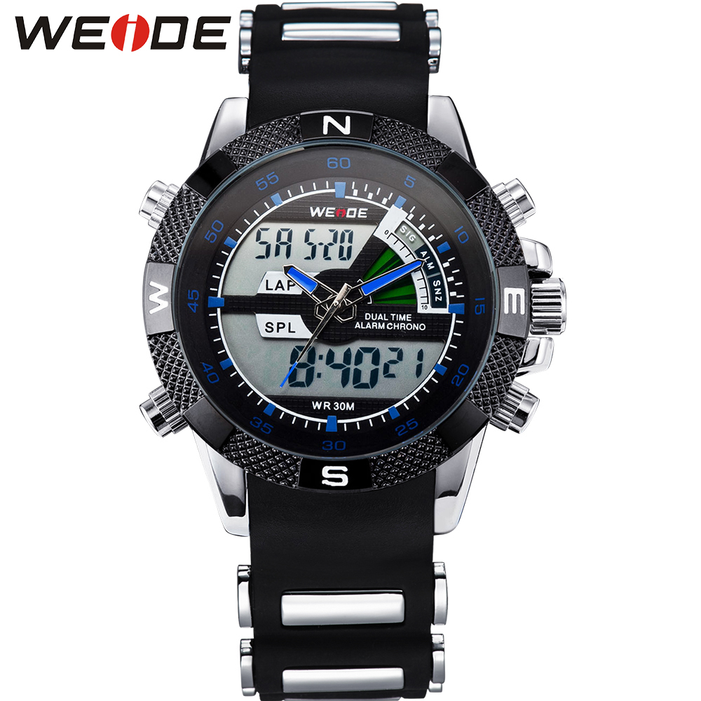 WEIDE Male Watch Outdoor Men's Watches Top Brand Sport Blue Color Wristwatch For Men 3ATM Hot Sales Promotion Products WH1104(China (Mainland))