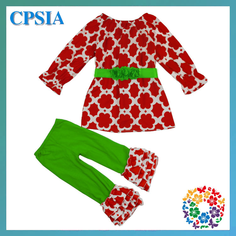 Hot!!!!New 2013 Winter Clothing Sets For Kids Girl boutique Clothing Sets Christmas Children's Cotton Outfits--12set/lot(China (Mainland))