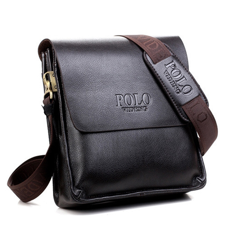 HOT SALE 2015 New men's shoulder bags genuine leather messenger bags high quality man brand business small crossbody polo bag(China (Mainland))