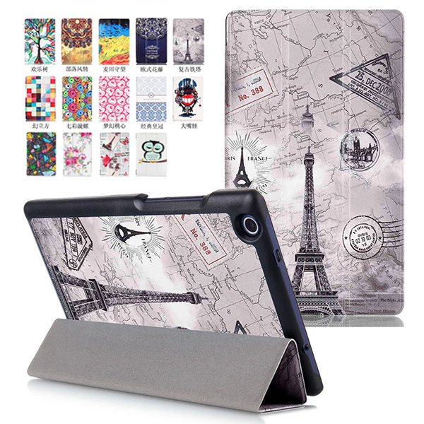 """Tri-Folding Ultra Slim Painting Stand Leather Case Cover Skin For Lenovo Tab2 A8-50 A8-50F A8-50LC A8 8"""" inch Tablet PC(China (Mainland))"""