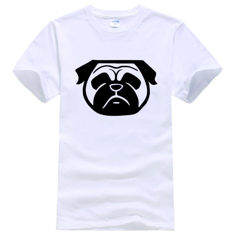 Cute pug dog face tee shirt unisex fashion women men short for Dog t shirt for after surgery