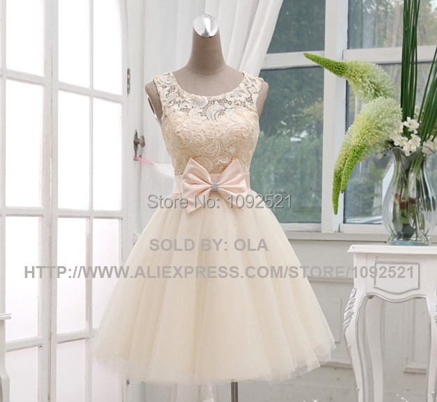 Princess Style 2015 elegant double-shoulder short design special occasion lace tull prom dress for wedding and party(China (Mainland))