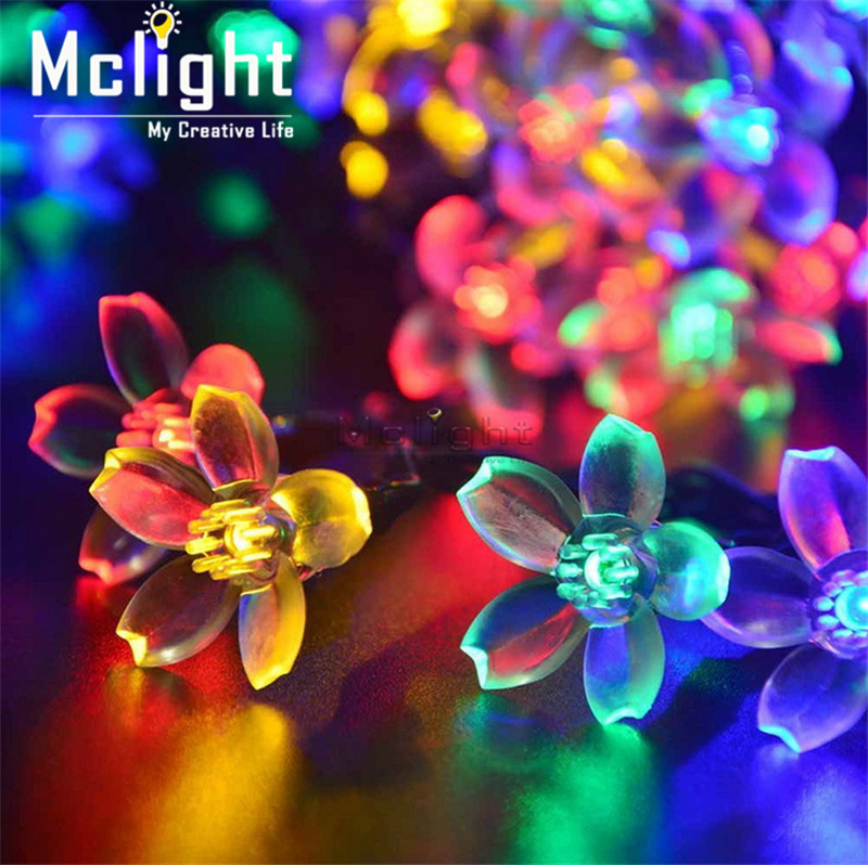 50 LED Solar Powered Ball Led String Lights LED Fairy Light for New Year Christmas Party Festival Outdoor Indoor Decoration