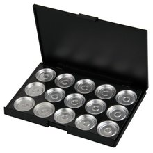 JEYL Hot New Makeup Empty 15 pcs Aluminum Eyeshadow Pans with Palette(China (Mainland))