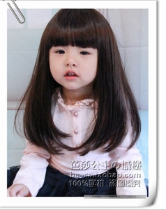 2015Wig Baby Wig Baby Wig Baby Wig Cute Princess Wig Wholesale long straight(China (Mainland))