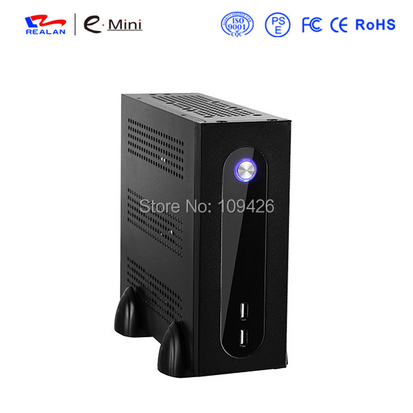 Realan G3 Silver Mini ITX Desktop Tower With Power Supply, 6 COM Ports SGCC 0.5mm Computer Tower Case(China (Mainland))