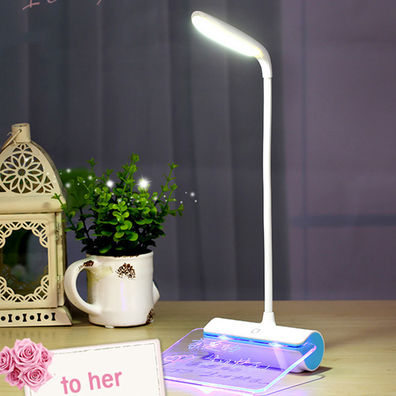 Flexible Bedside Light with Message Board 3 Mode Adjustable Desk Lamps Touch Sensor LED Reading Table Lamp Luminaria De Mesa(China (Mainland))