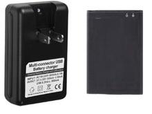 1 x 1500 мАч OEM BL-44JN батарея + зарядное устройство для LG Optimus черный P970 / Pro C660 / Sol E730 / ссылка P690 P699 / Hub E510 / L3 E400