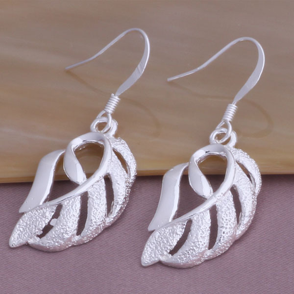 China supplier leaf jewelry earrings, best gift for daughter earrings for women good quality accept 1pc order YAE244(China (Mainland))