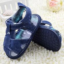 New non slip shoes toddler shoes newborn moccasins baby boy's shoes infant comfortable cotton denim sandals(China (Mainland))