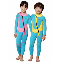2.5mmm Children Wetsuit Thick Warm Long Sleeved Wetsuit Snorkeling Suit Conjoined Spa Swimming Suit(China (Mainland))