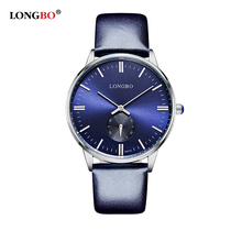 LONGBO Brand Business Watch 2016 Fashion Lovers' Genuine Leather Quartz Watch Men Women Casual Waterproof Wristwatch Relogio