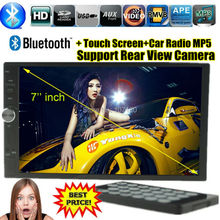 Car radio MP5 bluetooth car audio Stereo Player touch screen control AUX IN MP3 FM SD card USB 2 Din support Rear View Camera