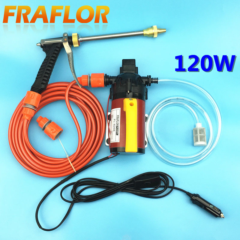 High Pressure 120W Car Wash 12V Car Wash Machine Portable Car washer With Pressure Switch Cigar Lighter Powered Factory Direct(China (Mainland))