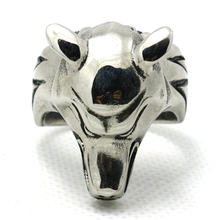 Mens Boys 316L Stainless Steel Silver Newest Wolf Head Ring