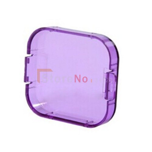 Purple Professional Diving Housing Filters Lens Cap Camera Housing Case for GoPro Hero 3(China (Mainland))
