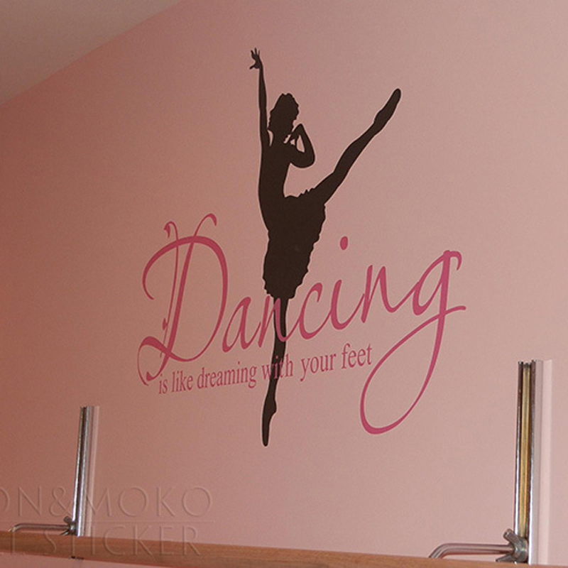 Buy quotes ballet ballerina wall sticker for Mural lettering