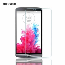 9H Clear Tempered Glass Protective Screen Protector Film for LG G2 G3 G4 Stylus Mini Front Film(China (Mainland))
