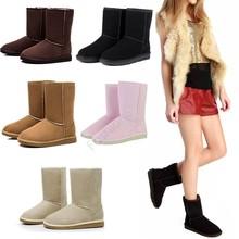 Venta al por mayor! Australia classic tall impermeable cuero genuino del ante de nieve caliente botas de invierno zapatos para mujer botas 50(China (Mainland))