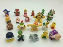 1pcs Super mario bros 2-3cm mini mario Luigi yoshi dinosaur mushroom figure action toy PVC mario model capsule toys dolls