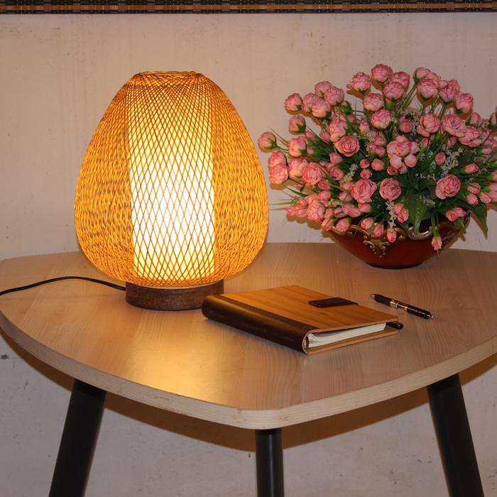 Handgemaakte bamboe lamp bamboe lampen bamboe technologie for Lampen japan