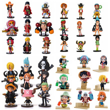 Anime One Piece PVC Action Figures Cute Mini Figure Toys Dolls Model Collection Toy Brinquedos 9 Piece Set Free Shipping(China (Mainland))