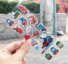 10PCS / lot Mixed Cartoon Bubble Stickers Train Children Kids Boys Anime Cartoon Stickers Decoration Christmas Gift notebook