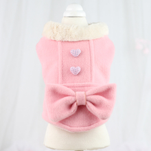 Buy 2015 Autumn Winter Pet Dog Princess Clothes Cute Elegant Female Dog Coat Jacket Yorkshire Poodle Bichon Teddy Top Clothing Pink for $13.99 in AliExpress store