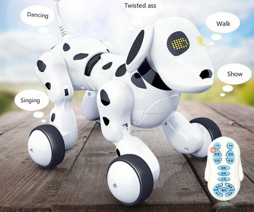Creative Intelligent Electric robot dog early childhood music dancing robot remote control rc toys for boys and girls <br><br>Aliexpress