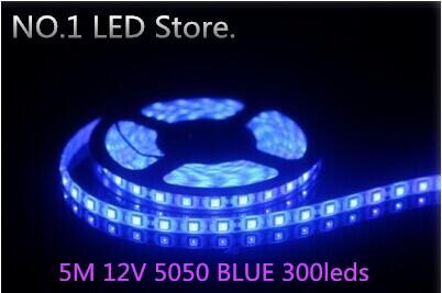 5M 5050 Blue SMD Flexible Strip 60leds/M waterproof Light Lamp DC 12V - NO.1 LED Store store
