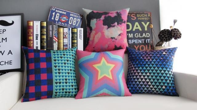 Modern  Cafe Creative cloud picture Gorgeous Sky Pillow Linen Cushion Pillow   home decorate sofa cushions