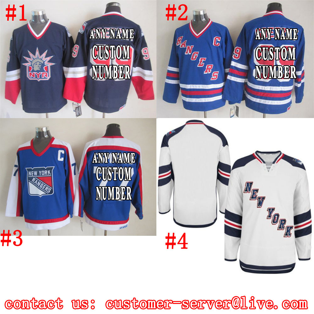 Custom Mens/Womens/youth 2015 new york rangers Hockey Jerseys White/Blue Home/Away - Name & Number Size Feedback(186 store | Orders (298))