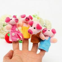 8Pcs/Set Three Little Pigs Finger Puppets Kids Educational Hand Toy Story Toy for Boy Girl #45(China (Mainland))